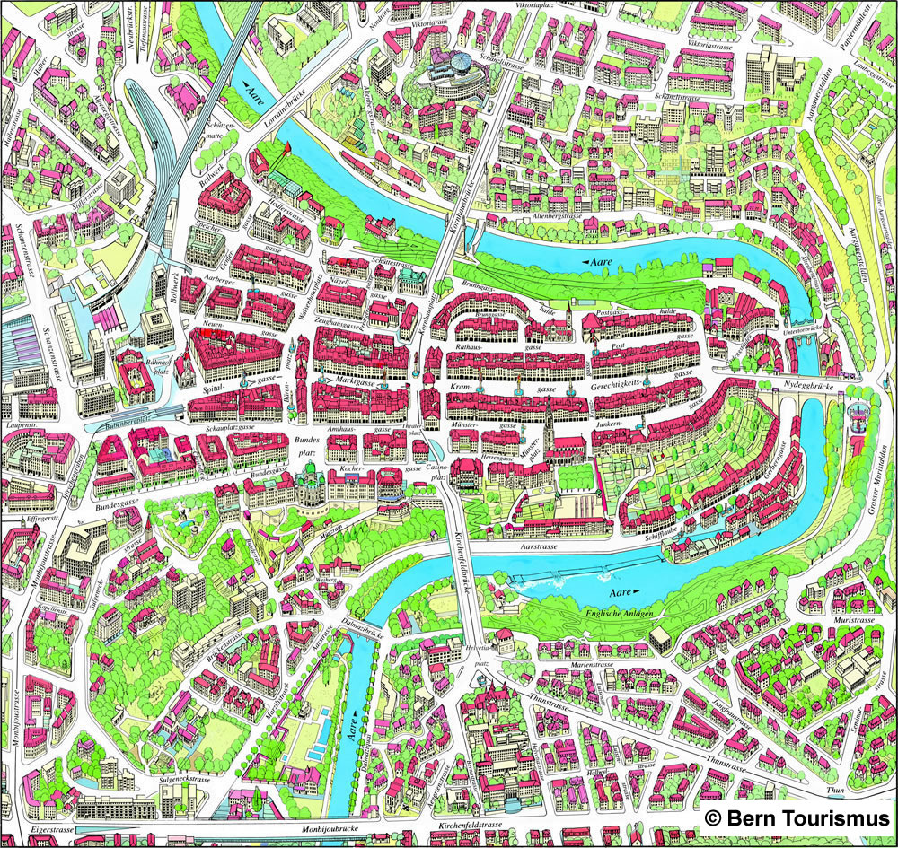 Plan Lugano Vieille Ville